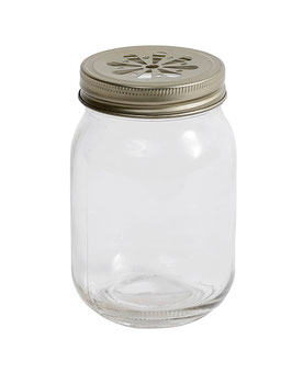 Glas mit Schraubdeckel