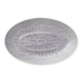 ovale Platte vom Dänischen Label Bungalow light grey