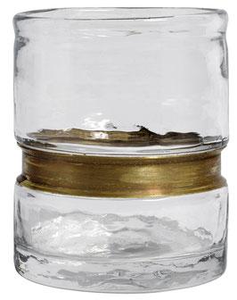 Glas klar mit Messing Verzierung