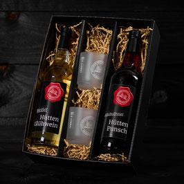 #406 Glühwein Geschenk Weiß / Punsch mit Gläser