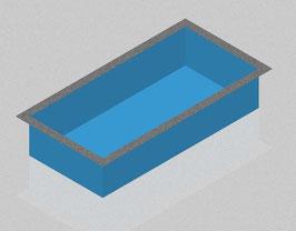 Premium-Schwimmbecken 4,00x2,50x1,5m