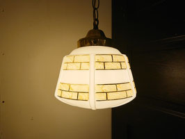 Antique Milkglass Lamp 【Mar-1469】