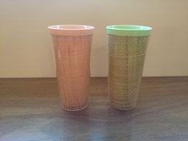 Vintage プラスチック カップ 2p SET【MAR-0940】