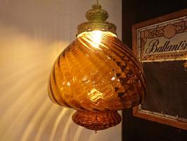 Vintage Amber Glass 吊り下げランプ 【Mar-1617】