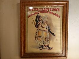 Vintage EVETTA Lady Crown ポスター 【Mar-1812】