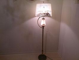 Vintage 真鍮×ガラス フロアランプ  【MAR-0040】