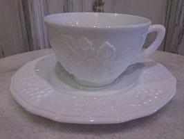 Vintage ミルクグラス ティーカップ  【MAR-0163】