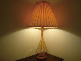 Vintage アンバー ガラス テーブルランプ  【MAR-0038】