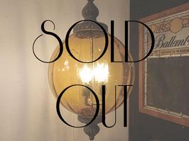 Vintage Amber Glass 3灯 吊り下げランプ 【Mar-1614】