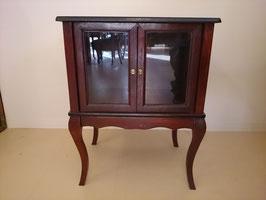 Vintage ウッド ガラスキャビネット  【MAR-0367】