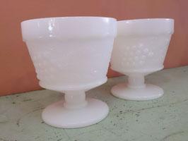 Vintage ミルクグラス シャーベットカップ  Anchor Hocking  【MAR-0441】
