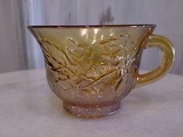 Vintage オーロラグラスカップ アンバー  【MAR-0148】