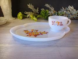 Federal Glass  Blossom Snack Set  【MAR-1209】