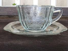 FEDERAL カップ&ソーサー デプレッショングラス  【MAR-1794】