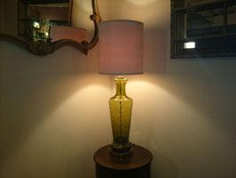Vintage グリーンガラス テーブルランプ  【MAR-0051】