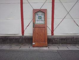 アンティーク ブラウン ステンドガラス ドア   【MAR-0947】