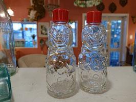 Vtg Dead Stock Brockway BoBo Clown Bottle 薬瓶 【Mar-1540】