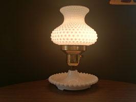 Vintage ミルクグラス テーブルランプ  【MAR-0872】