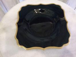 Vintage ブラック×ゴールド プレート  【MAR-0132】