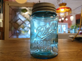 Antique Ball Jar ブルー 【Mar-1534】