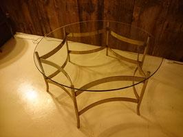 Vintage 50'sガラストップ×アイアンレッグ テーブル 【MAR-1101】