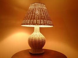 Vintage ラタン テーブルランプ  【MAR-0058】