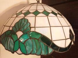 Vintage  ステンドグラス ペンダントランプ 【Mar-1590】