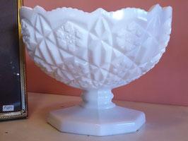 Vintage ミルクグラス フラワーベース  【MAR-0439】