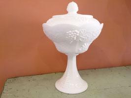Vintage ミルクグラス コンポート ハーベストグレープ  【MAR-0440】