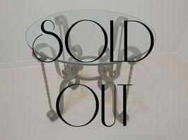 Vintage ガラストップ テーブル  【MAR-0205】