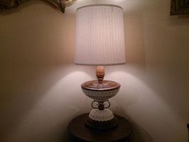 Vintage ウッド×ホワイトガラス テーブルランプ  【MAR-0039】