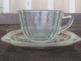 FEDERAL カップ&ソーサー デプレッショングラス  【MAR-1795】