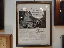 1936年 Chrysler six ウォールデコ 【Mar-1774】
