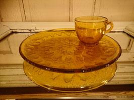 Vintage インディアナグラス スナックセット 【MAR-1120】