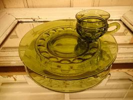 Vintage インディアナグラス スナックセット  【MAR-1118】