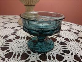 Vintage キングスクラウン シャーベットグラス スモーキーブルー 【MAR-0828】