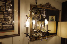 Antique Brass Chandelier 3灯 【Mar-2136】