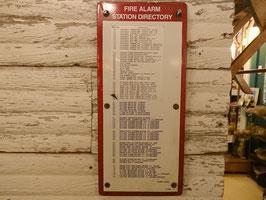 Vintage  FIRE ALARM  サイン 【MAR-1456】