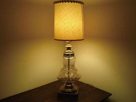 Vintage クラックガラス テーブルランプ  【MAR-0047】