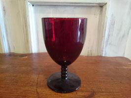 Vintage ルビーレッド ワイングラス  【MAR-0661】