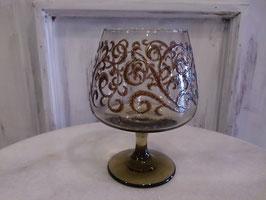 Antique ボヘミアングラス製ワイングラス  【MAR-0127】