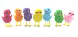 Petits poussins colorés