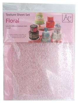Set de 6 tapis impression floral AC