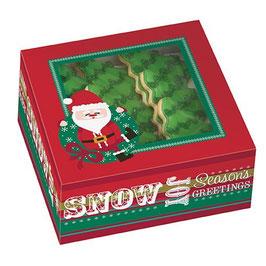 Lot de 3 boîtes pour gâteau et cookies Noël