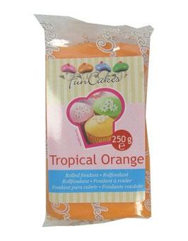 Pâte à sucre tropical orange