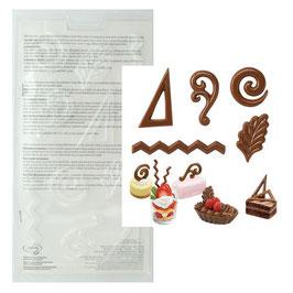 Moule 5 formes décoratives pour desserts
