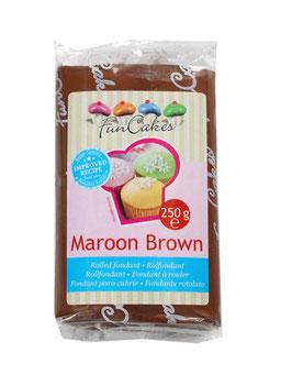 Pâte à sucre marron foncé