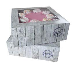 """2 boîtes  """"Home made"""" pour gâteau 21 cm"""