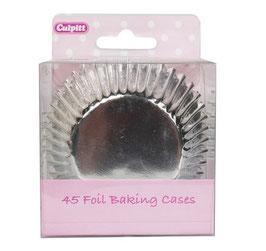 Caissettes métallisées argent pour cupcakes