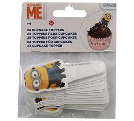 Décors Minions pour cupcake